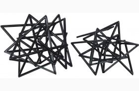 Daitaro Black Sculpture Set of 2