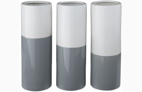 Dalal Gray and White Vase Set of 3