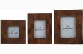 Kabecka Brown Photo Frame Set of 3