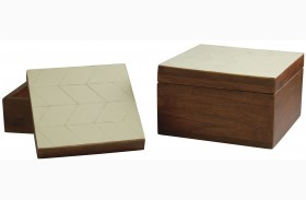 Kabecka Brown and Cream Box Set of 2
