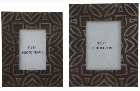 Marquise Antique Black Photo Frame Set of 2