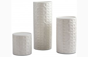 Kael Cream Candle Holder Set of 3
