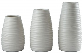 Kaemon White Vase Set of 3