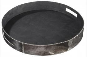 Odeda Black Round Tray Set of 2