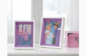 Obie White and Purple Photo Frame Set of 2