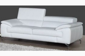 A973 White Italian Leather Sofa