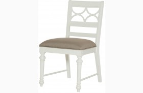 Lynn Haven Soft Dover White Fretwork Side Chair