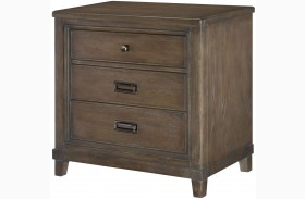 Park Studio Weathered Taupe Drawer Nightstand