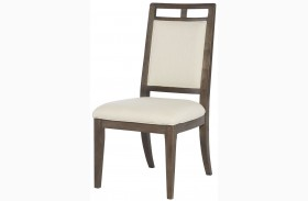 Park Studio Weathered Taupe Wood Back Side Chair