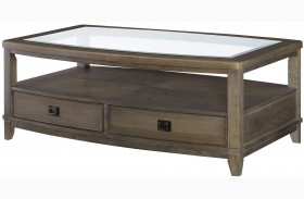 Park Studio Weathered Taupe Rectangular Cocktail Table
