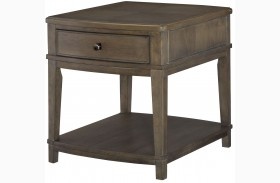 Park Studio Weathered Taupe Rectangular End Table