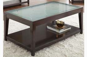 Arden Sandblasted Glass Cocktail Table
