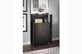Aero Classic Black 2-Door Medium Library Storage