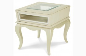 After Eight Pearl Croc End Table