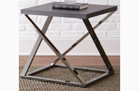 Aegean Silvershield 3D End Table
