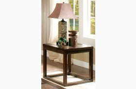 Alberto Brown Oak End Table