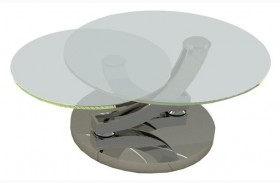Allure Clear Glass Coffee Table