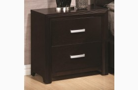 Andreas Cappuccino Two Drawer Nightstand