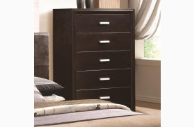 Andreas Cappuccino 5 Drawer Chest