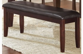Allison Espresso Dining Bench