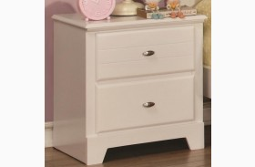 Ashton White 2 Drawer Nightstand