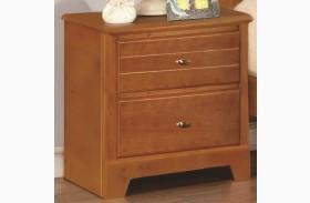 Ashton Honey 2 Drawer Nightstand