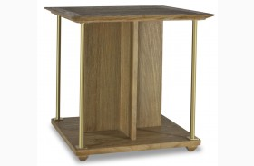 Atherton Cerused Teak End Table