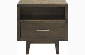 Avondale Charcoal Nightstand
