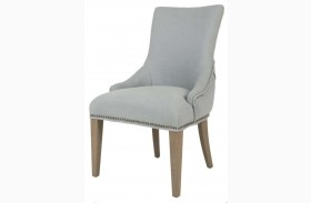 Avenue Stone Wash Spruce Belgian Linen Dining Chair