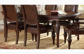 Antoinette Warm Brown Extendable Rectangular Dining Table