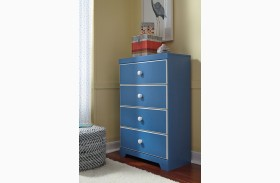 Bronilly Blue Four Drawer Chest