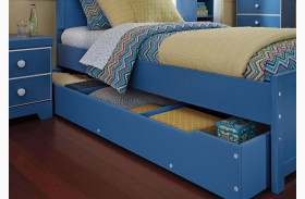 Bronilly Blue Trundle Under Bed Storage