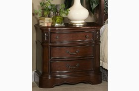 Belle Meade Courtyard Cherry 3 Drawer Nightstand