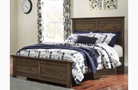 Burminson Brown Queen Platform Storage Bed