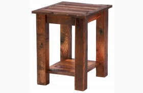 Barnwood Open End Table With Barnwood Legs