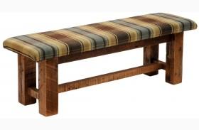 Barnwood Upholstered Seat 48