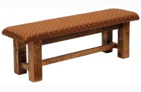 Barnwood Upholstered Seat 60