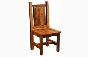 Barnwood Contoured Wood Seat Artisan Dining Side Chair