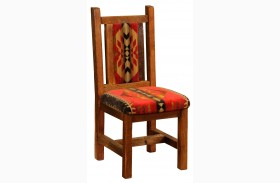 Barnwood Artisan Traditional Finish Upholstered Side Chair
