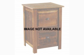 Barnwood 4 Drawer Traditional Oak Top File Cabinet With Hickory Legs