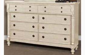 Woodhaven Antique White 8 Drawer Dresser