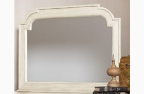 Woodhaven Antique White Mirror