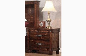 Noble Rustic Oak Nightstand
