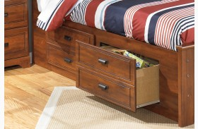 Barchan Under Bed Storage w/Side Rail and Slat Roll