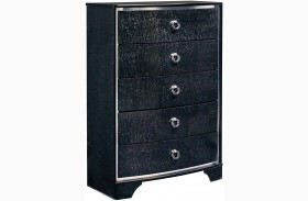 Amrothi Black 5 Drawer Chest