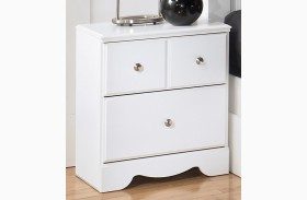 Weeki Two Drawer Nightstand