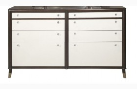 Seventh Avenue Cream and Sable Wood Drawer Dresser