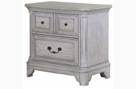 Windsor Lane Weathered Grey Wood Drawer Nightstand