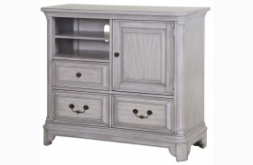 Windsor Lane Weathered Grey Wood Media Chest