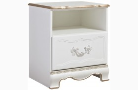 Korabella White One Drawer Nightstand